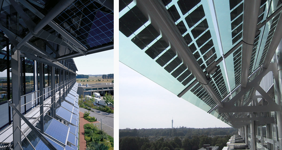 Sunshading: ADAC headquarter Hannover and Klinikum Rostock, Germany